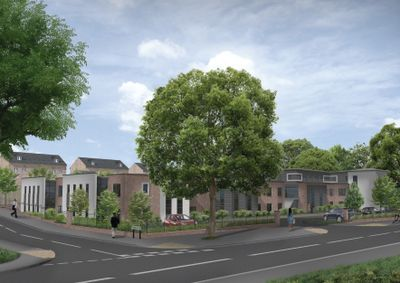 An artists impression of a new care home